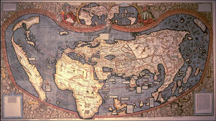 Worlds Beyond the Poles / A. Giannini / Possible world maps. 1507-MartinWaldseemueller